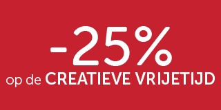 -25% op de creative vrijetijd
